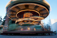 Ride into town, Italy. Carousel of a square Italian Stock Photo