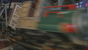 Ride the train travels at high speed stock video footage