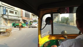 Ride in a Tuk-Tuk taxi - India stock video
