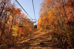 A Ride up the Mountain. Taken a ride up the mountain in the fall of the year Royalty Free Stock Image