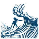 Ride the Wave Royalty Free Stock Photography