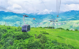 The ride on Wings of Tatev cableway Royalty Free Stock Images