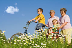 Ride With Grandparents Stock Images