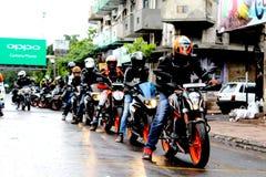 Ride& x27; allineamento di s Fotografia Stock