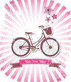 Ride your bike banner Stock Photo