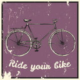 Ride your bike picture. Royalty Free Stock Images