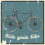 Ride your bike picture. Stock Photography