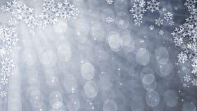Rideau éclatant argenté avec des flocons de neige illustration libre de droits
