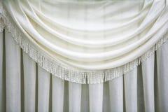 Rideau blanc Photographie stock