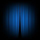 Rideau bleu Photographie stock libre de droits