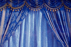 Rideau bleu images libres de droits