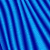 Rideau bleu lumineux en tissu avec un modèle géométrique de flocons de neige Image stock