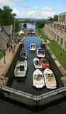 Rideau Canal Boats Stock Photography