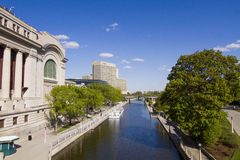 Rideau Canal in Downtown Ottawa Stock Photo