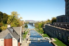 Rideau Canal Locks Stock Image
