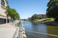 Rideau Canal Locks in Ottawa Ontario Canada Stock Images