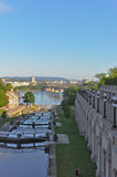 Rideau Canal looking north to Gatineau Stock Photo