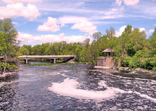Rideau canal Manotick pont en mai 2008 Image stock