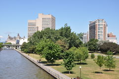 The Rideau Canal in Ottawa Royalty Free Stock Images