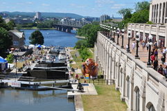 The Rideau Canal in Ottawa Stock Photos