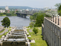 Rideau Canal, Ottawa Canada. Rideau Canal locks in Ottawa, Canada Royalty Free Stock Photography