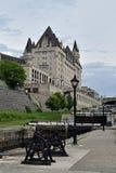 Rideau Canal and Ottawa Locks at Ottawa, Ontario, Canada Stock Image