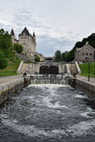 Rideau Canal and Ottawa Locks at Ottawa, Ontario, Canada Royalty Free Stock Photos
