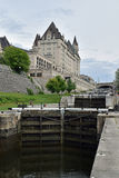 Rideau Canal and Ottawa Locks at Ottawa, Ontario, Canada Stock Images
