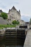 Rideau Canal and Ottawa Locks at Ottawa, Ontario, Canada Stock Images