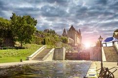 Rideau canal in Ottawa Stock Photos