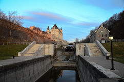 Rideau Canal and sun set Stock Images