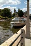 Rideau Canal tour boat Ottawa Ontario, Canada stock photography