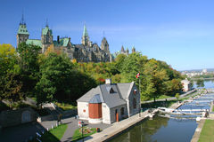Rideau Canal, a UNESCO World Heritage Site Royalty Free Stock Images