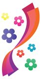 Rideau coloré en fleur illustration stock