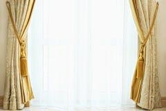 Rideau de luxe avec un copie-espace Images libres de droits