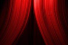 Rideau en étape de théâtre Image libre de droits