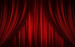 Rideau en étape de théâtre photographie stock libre de droits
