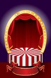 Rideau en cirque Photo libre de droits
