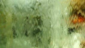 Rideau en eau de mur de verre banque de vidéos