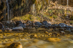 Rideau en eau en Maria Alm, Autriche images libres de droits