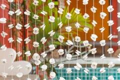 Rideau en modèle de coquillage extérieur Photographie stock