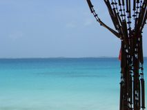 Rideau en océan Photographie stock
