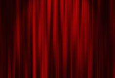 Rideau en rouge de théâtre Photos libres de droits