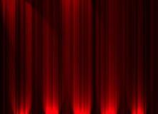 Rideau en théâtre Photo libre de droits