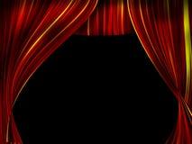 Rideau en théâtre Photo stock