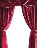 Rideau en théâtre sur le fond blanc images libres de droits