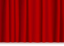 Rideau en théâtre Image stock