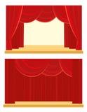 Rideau en théâtre et en cinéma Photographie stock libre de droits