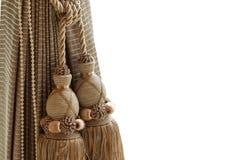 Rideau et gland de luxe Image stock