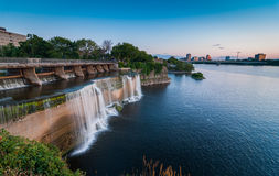Rideau Falls as summer evening approaches. Stock Photos